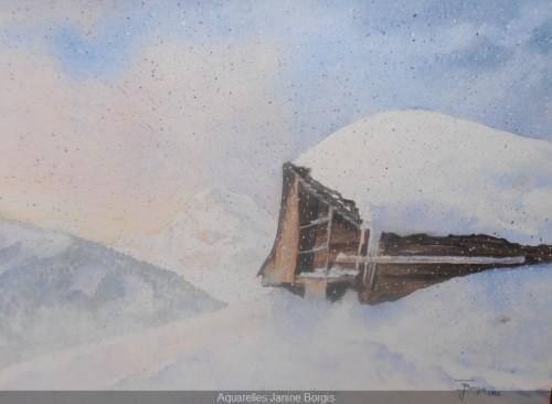 Châlet sous la neige 2
