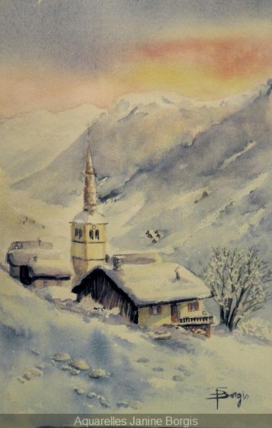 Clocher sous la neige 2