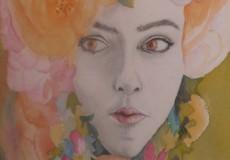 Dame aux fleurs
